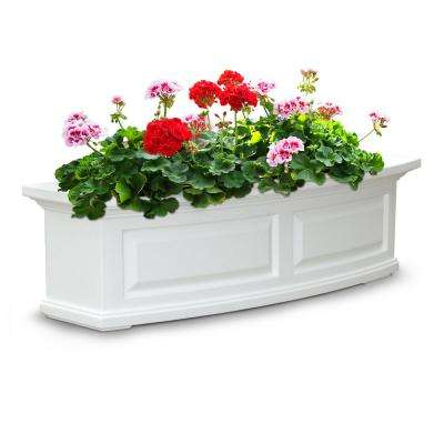 3 ft. Nantucket White Plastic Window Box