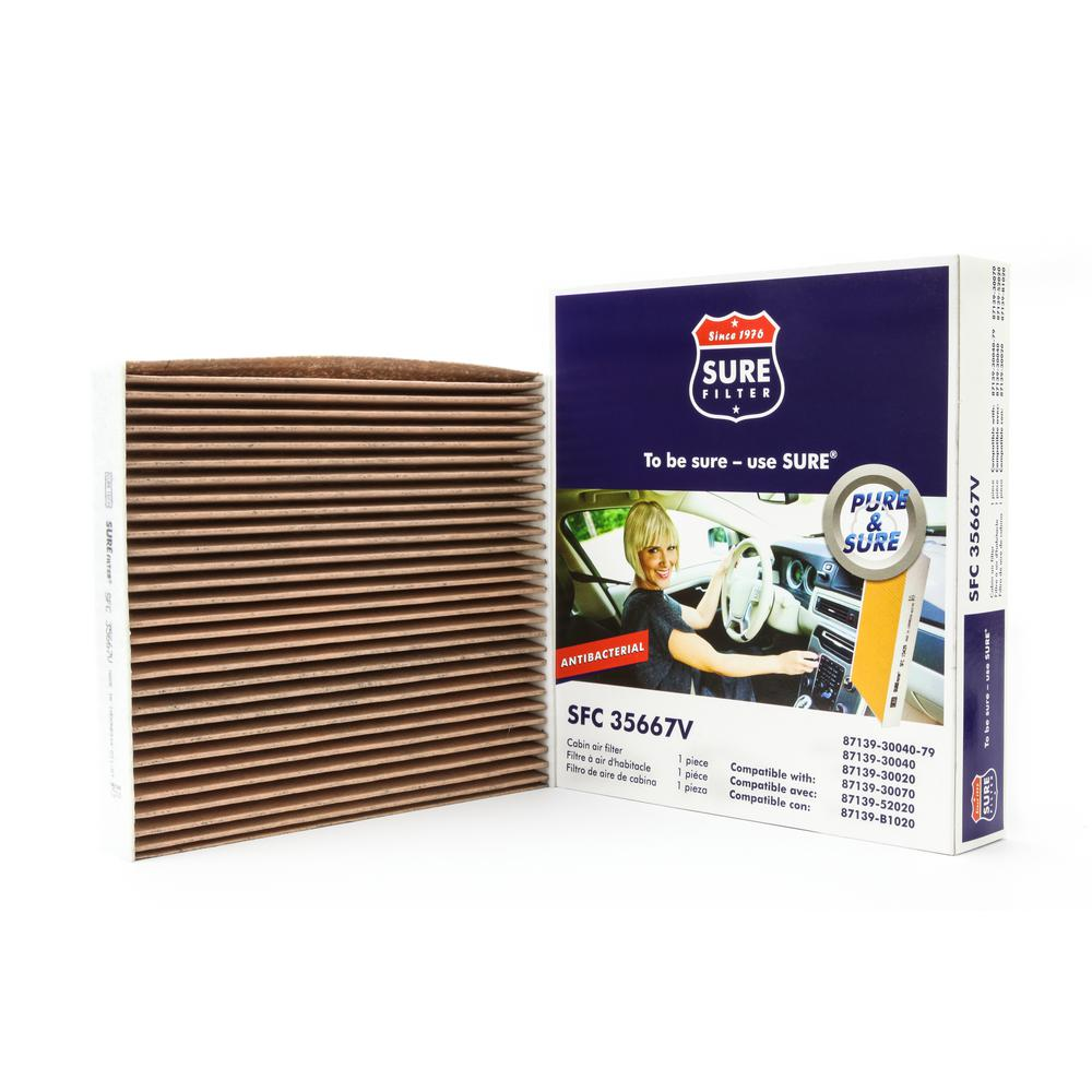Replacement Antibacterial Cabin Air Filter for Wix 24483 Purolator C35667 Fram