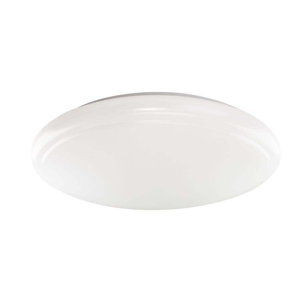 15 in. Round White Integrated LED Ceiling Flushmount