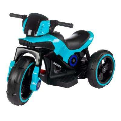 Blue Battery Powered Trike Motorcycle Ride on Toy