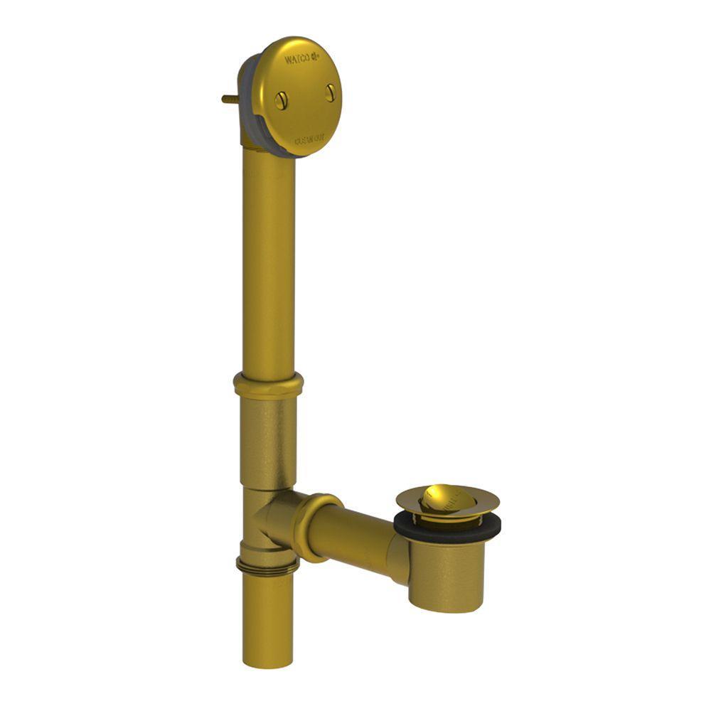 551 Series 24 in. Tubular Brass Bath Waste with PresFlo Bathtub