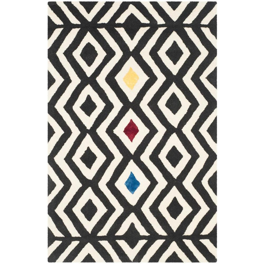 Safavieh Soho Beige/Charcoal 3 ft. 6 in. x 5 ft. 6 in. Area Rug