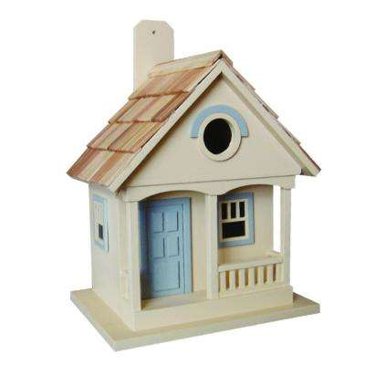 Pacific Grove Birdhouse (Yellow With Lt. Blue)