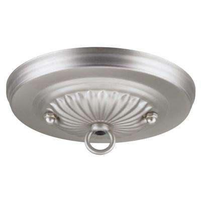5-1/8 in. Brushed Pewter Traditional Canopy Kit