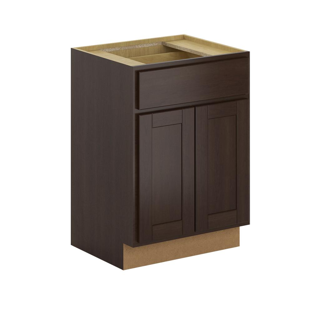 hampton bay princeton shaker assembled 24x34 5x21 in base 18649