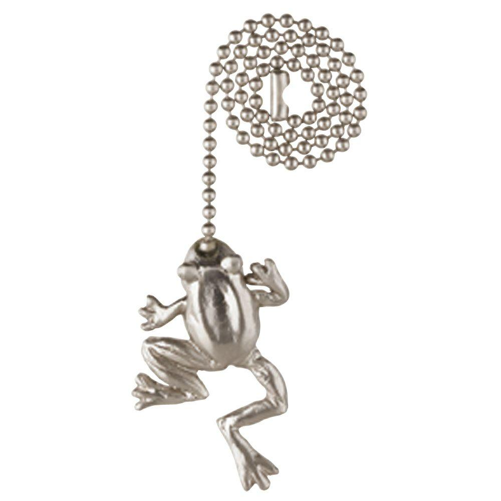 Brushed Nickel Frog Pull Chain