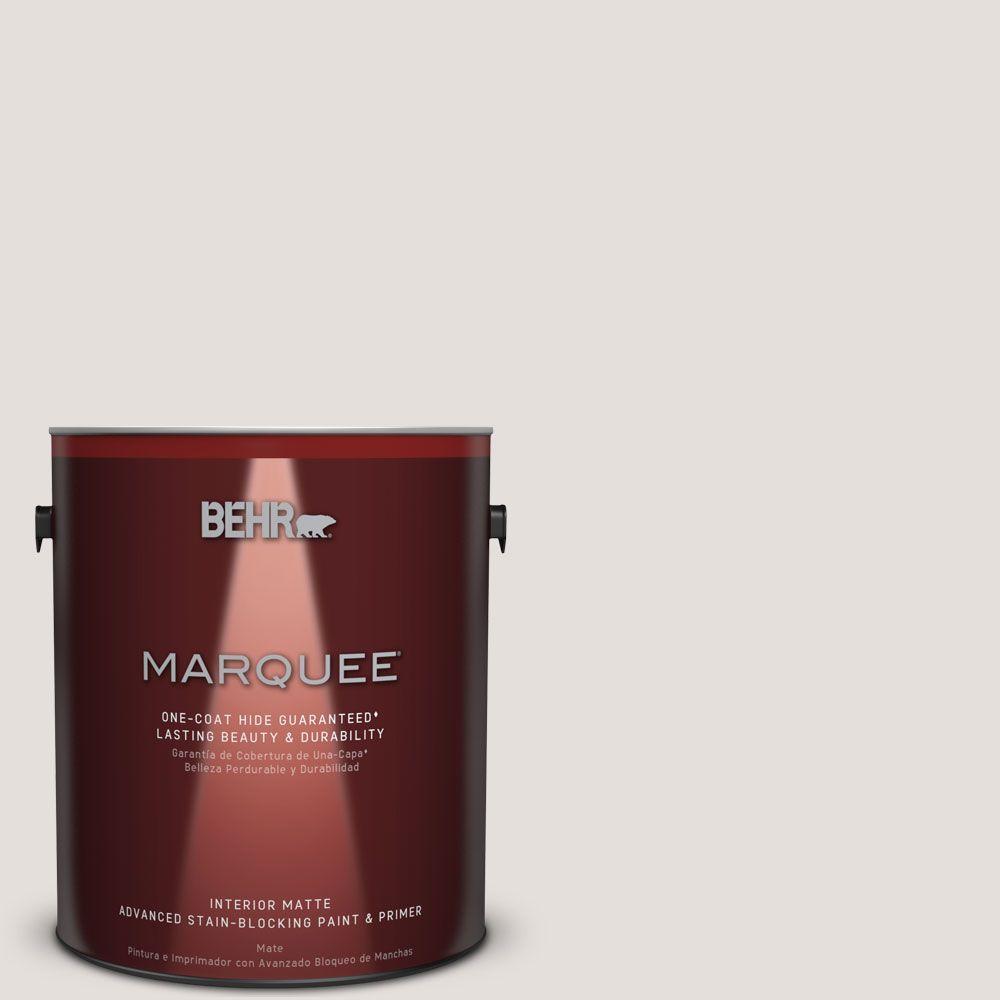 1 gal. #MQ3-3 Pink Chalk One-Coat Hide Matte Interior Paint