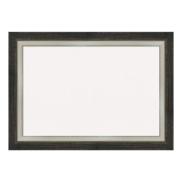 Amanti Art Brushed Metallic Wood Framed White Cork Memo Board DSW4093089