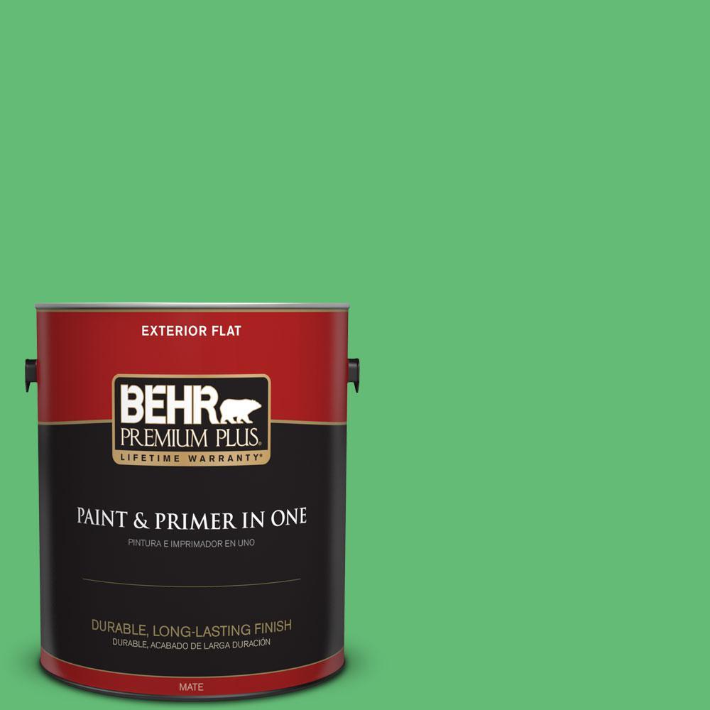 BEHR Premium Plus 1-gal. #450B-5 Lady Luck Flat Exterior Paint