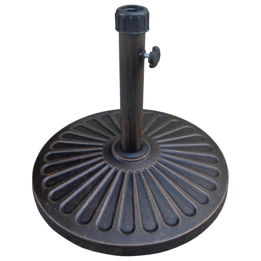 32 lbs. Heavy-Duty Umbrella Base in Bronze