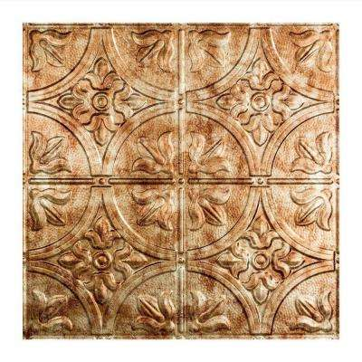 Traditional Style # 2 - 2 ft. x 2 ft. Vinyl Lay-In Ceiling Tile in Bermuda Bronze