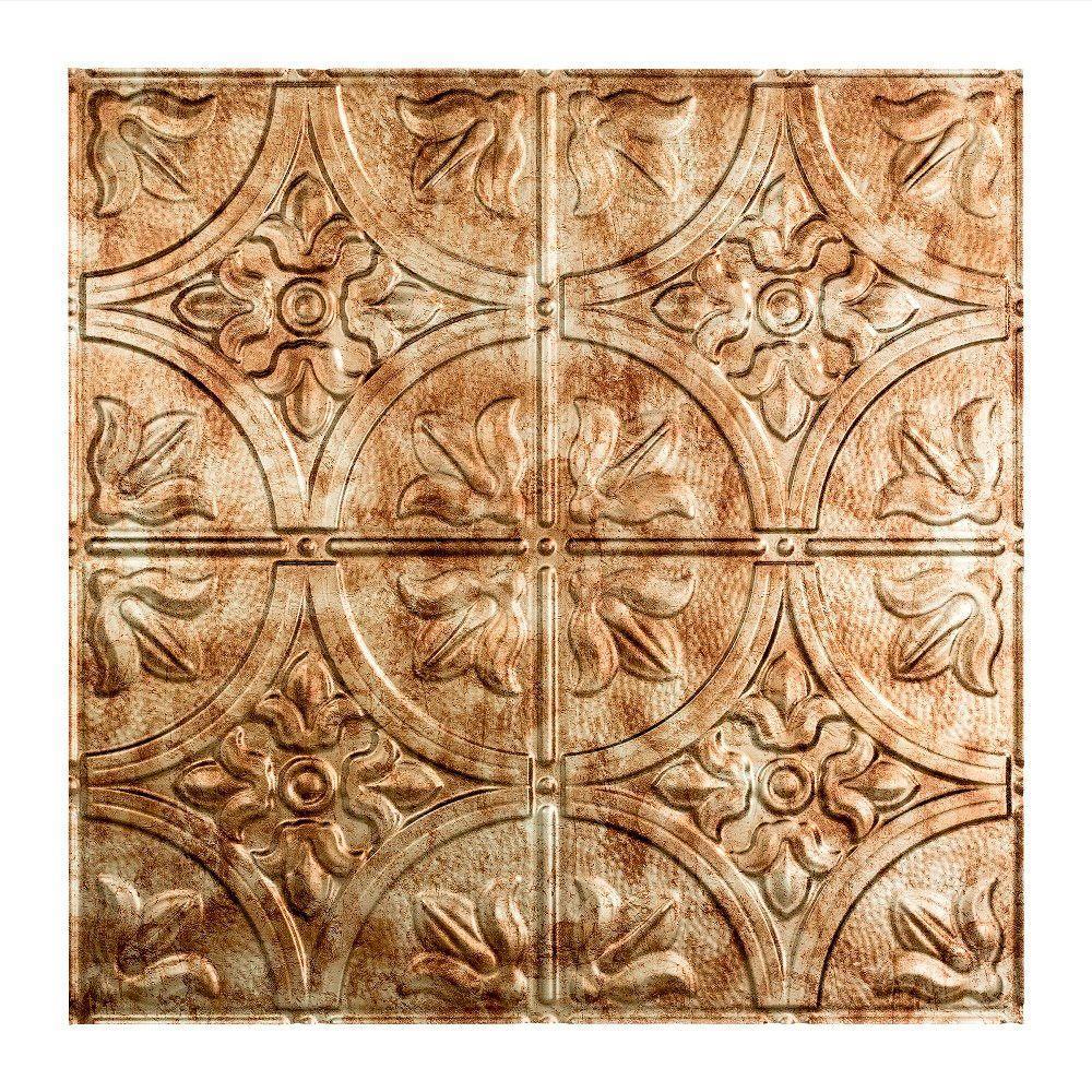 Traditional #2 2 ft. x 2 ft. Bermuda Bronze Lay-In Vinyl Ceiling Tile ( 20 sq.ft. )