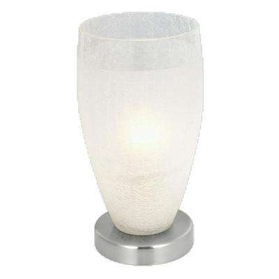 Crash 13 in. Matte Nickel Table Lamp