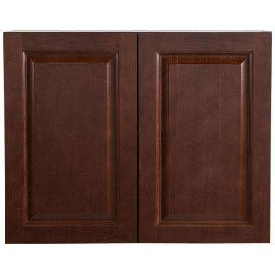 Benton Assembled 30 in. x 24 in. x 15.6 in. Wall Cabinet in Amber