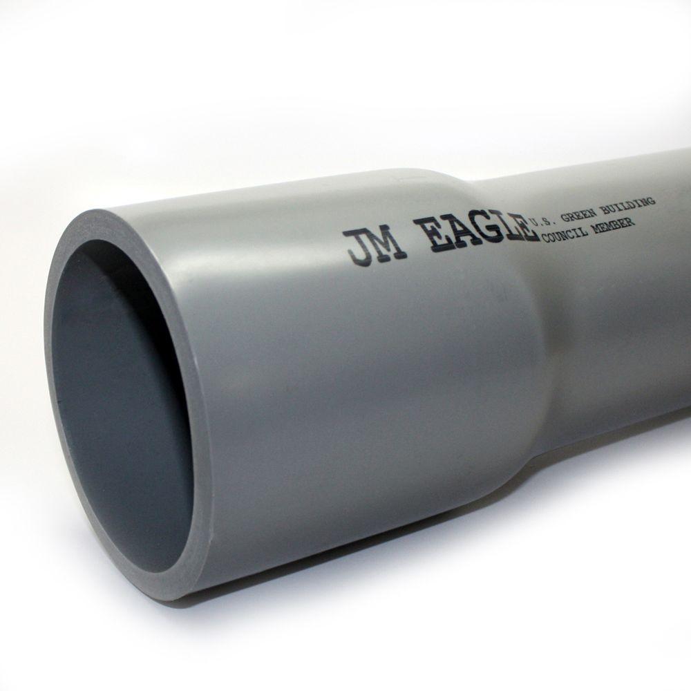 JM eagle 2-1/2 in  x 10 ft  PVC Schedule 80 Conduit