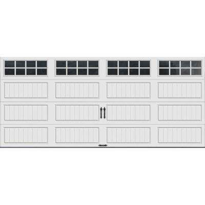 Gallery Collection 16 ft. x 7 ft. 18.4 R-Value Intellicore Insulated White Garage Door with SQ24 Window