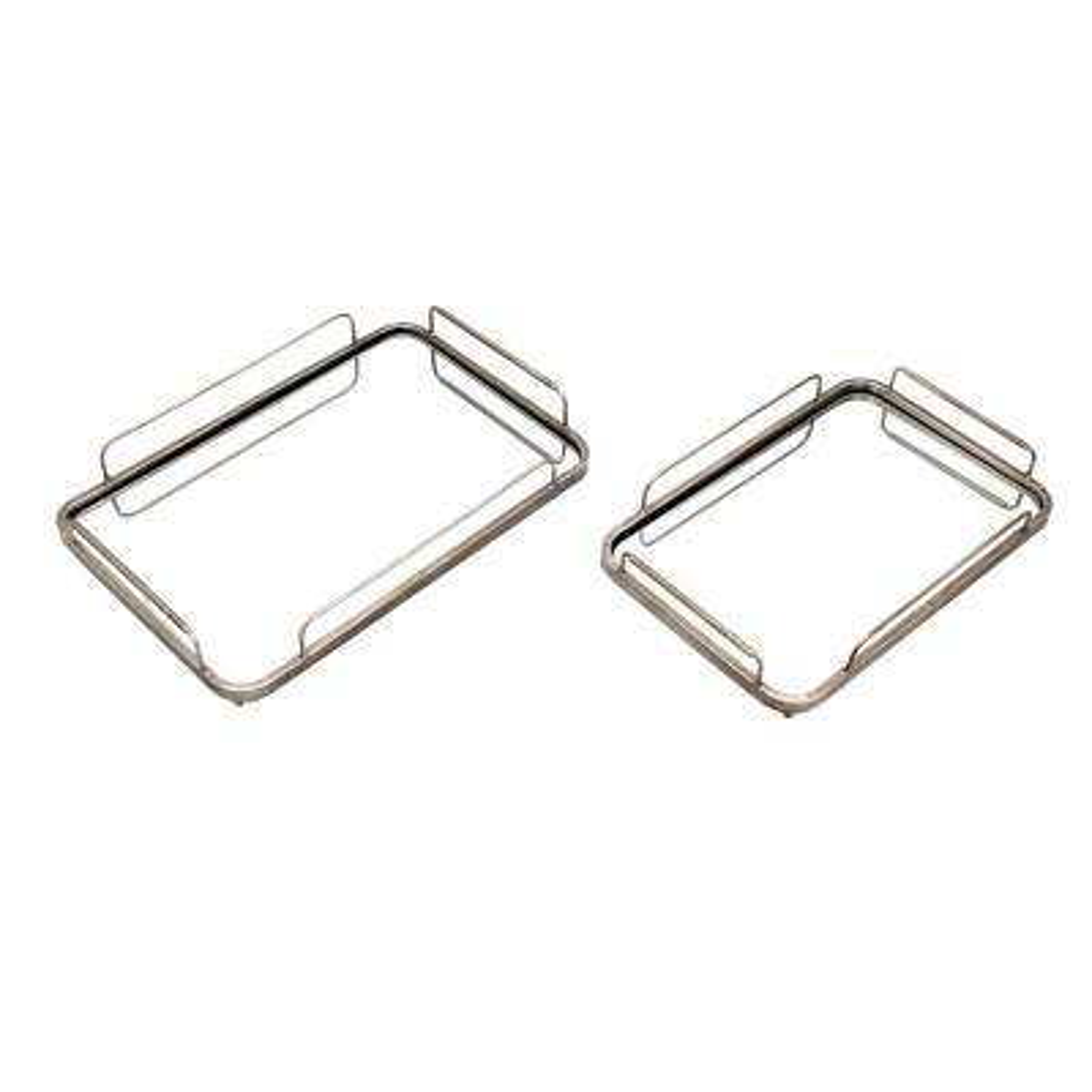 Varanda Silver Trays (Set of 2)
