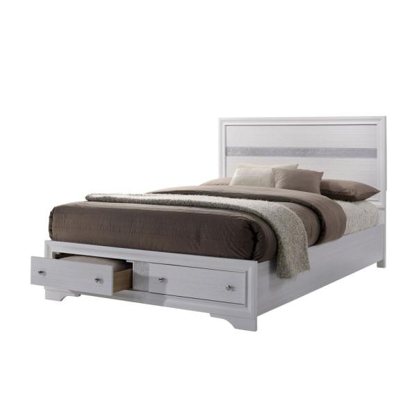 Chrissy Queen Bed in White
