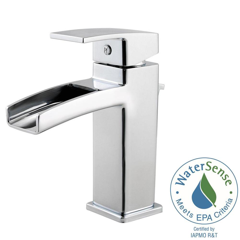 kenzo single hole single-handle bathroom faucet in polished chrome
