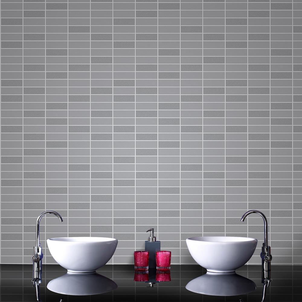Graham Brown Gray Shimmer Rimini Tile Removable