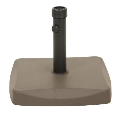 Rory 60 lbs. Concrete and Iron Patio Umbrella Base in Brown