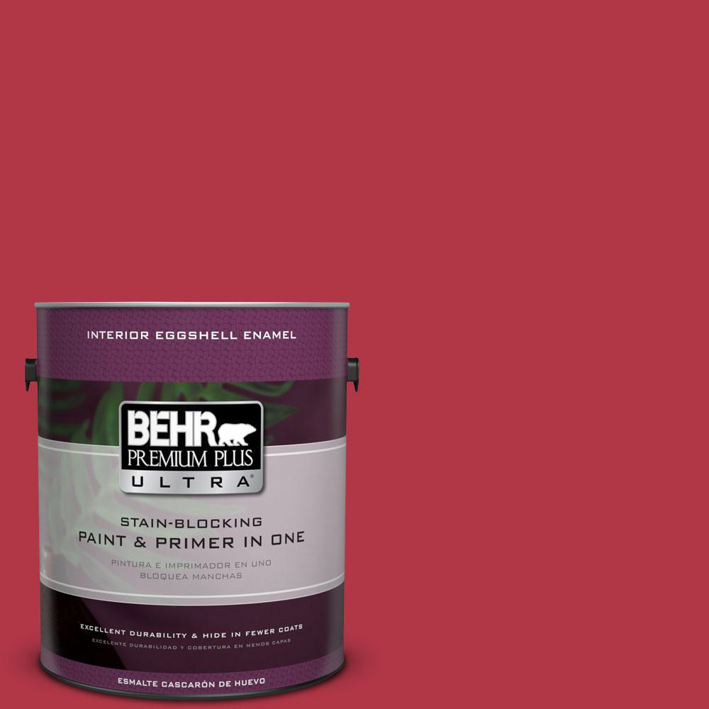 1 gal. #140B-7 Frosted Pomegranate Eggshell Enamel Interior Paint and Primer