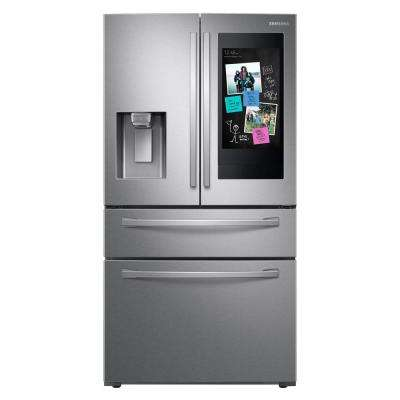 22.2 cu. ft. Family Hub 4-Door French Door Smart Refrigerator in Fingerprint Resistant Stainless Steel, Counter Depth