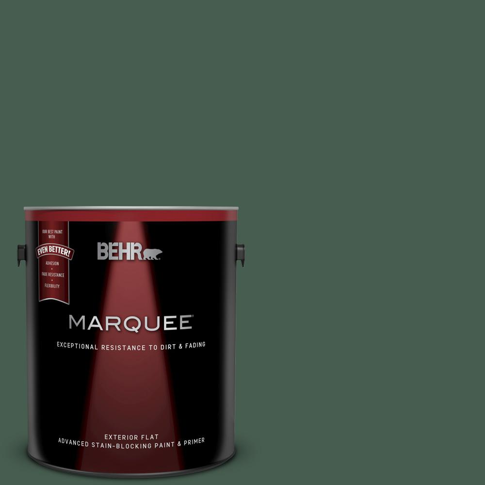 BEHR MARQUEE 1 gal  #N400-7 Vine Leaf Flat Exterior Paint and Primer in One