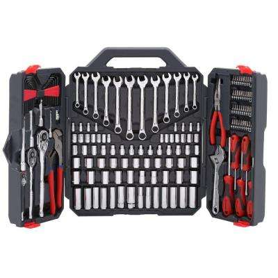 1/4 in., 3/8 in. and 1/2 in. Drive 6 and 12 Point SAE/Metric Mechanics Tool Set (170-Piece)