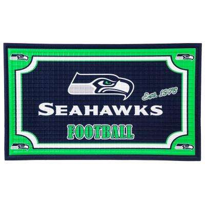 Seattle Seahawks 18 in. x 30 in. Embossed Welcome Mat