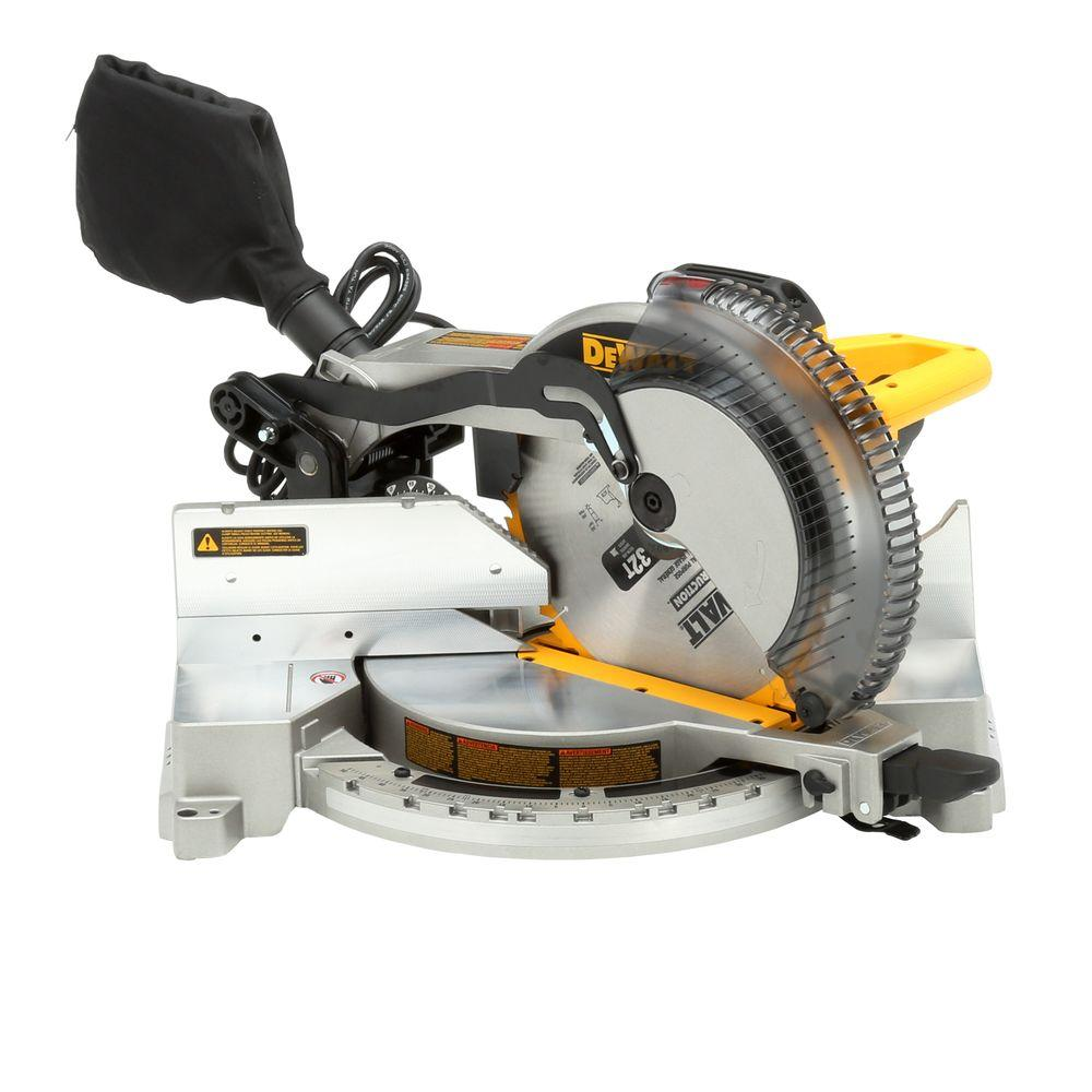 DeWalt 15-Amp Corded 12 in. Heavy-Duty Single-Bevel Compound Miter Saw