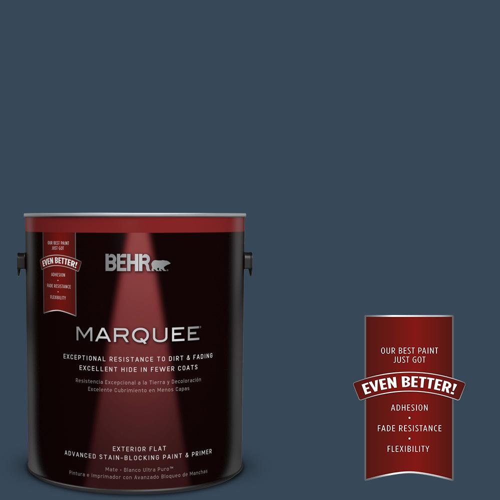1-gal. #ECC-30-3 Night Tide Flat Exterior Paint