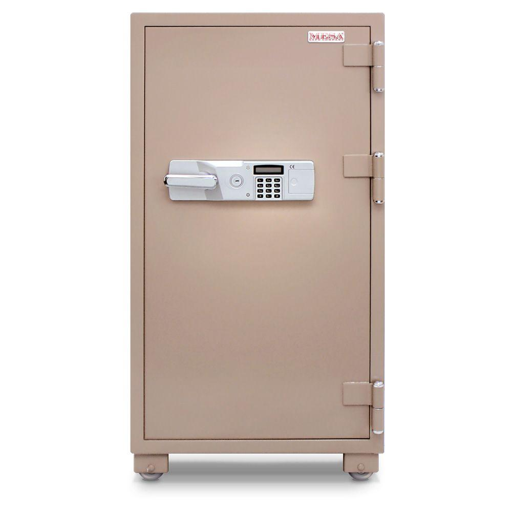 MESA 6.8 cu. ft. All Steel 2 Hour Fire Safe with Electronic Lock, Tan