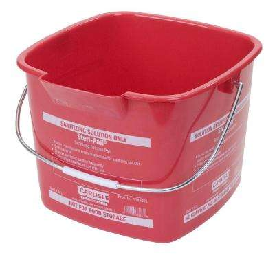 8 Qt. Red Steri-Pail for Sanitizing Solutions (12-Case)