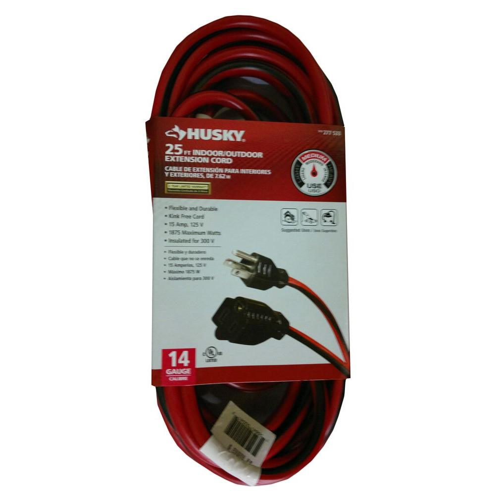 Husky 25 ft. 14/3 Extension Cord