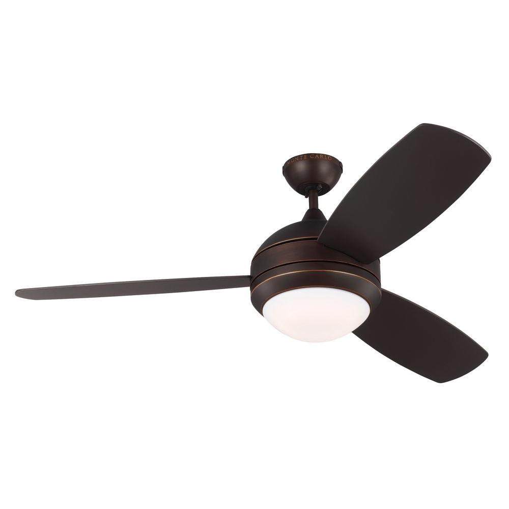 Monte Carlo Discus Trio 52 In Indoor Outdoor Roman Bronze Ceiling Fan Ir52rbd The Home Depot