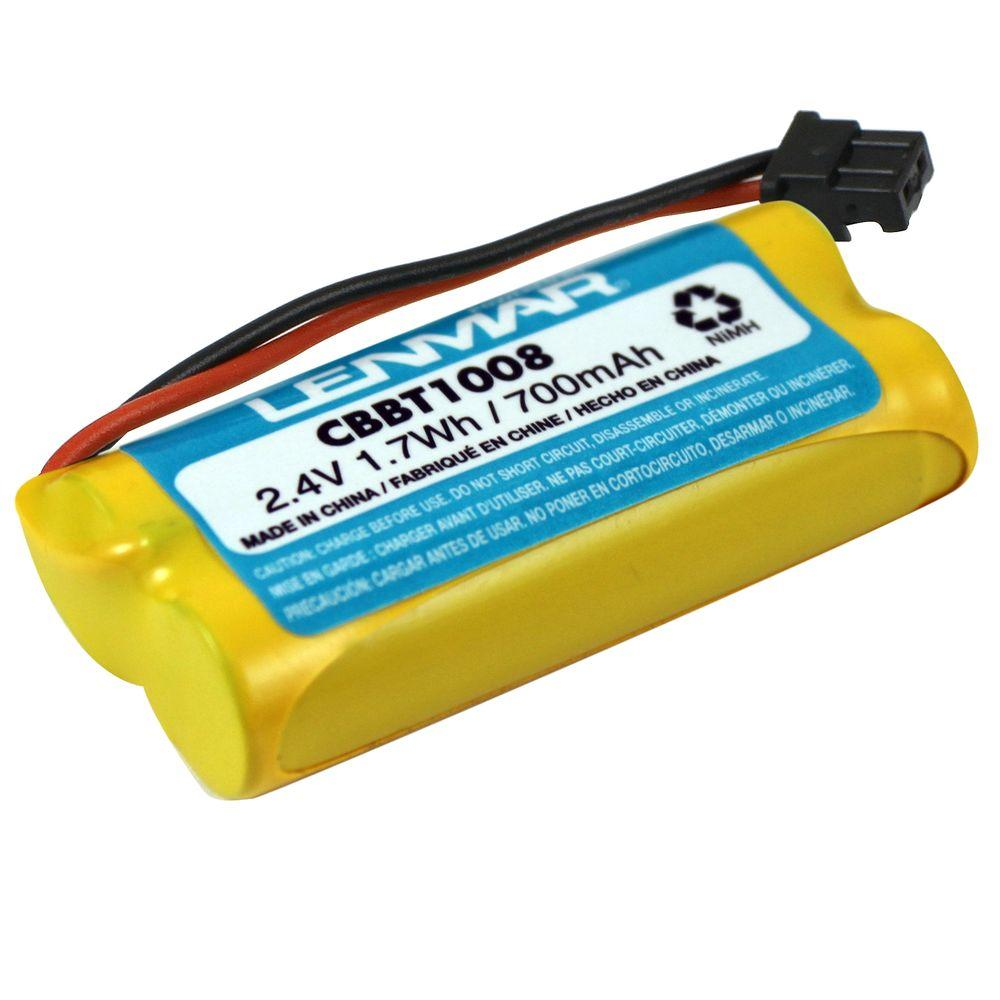 Lenmar Nickel-Metal Hydride 700mAh/2.4-Volt Cordless Phone Replacement Battery