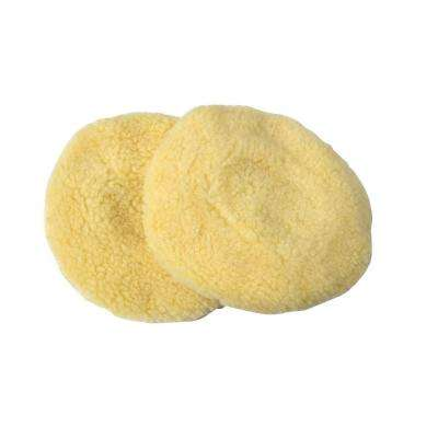 6 in. Synthetic Wool Polishing Bonnets (2-Pack)