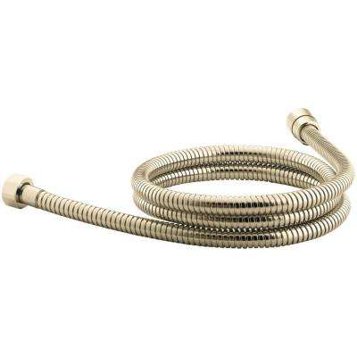 MasterShower 72 in. Metal Shower Hose in Vibrant French Gold