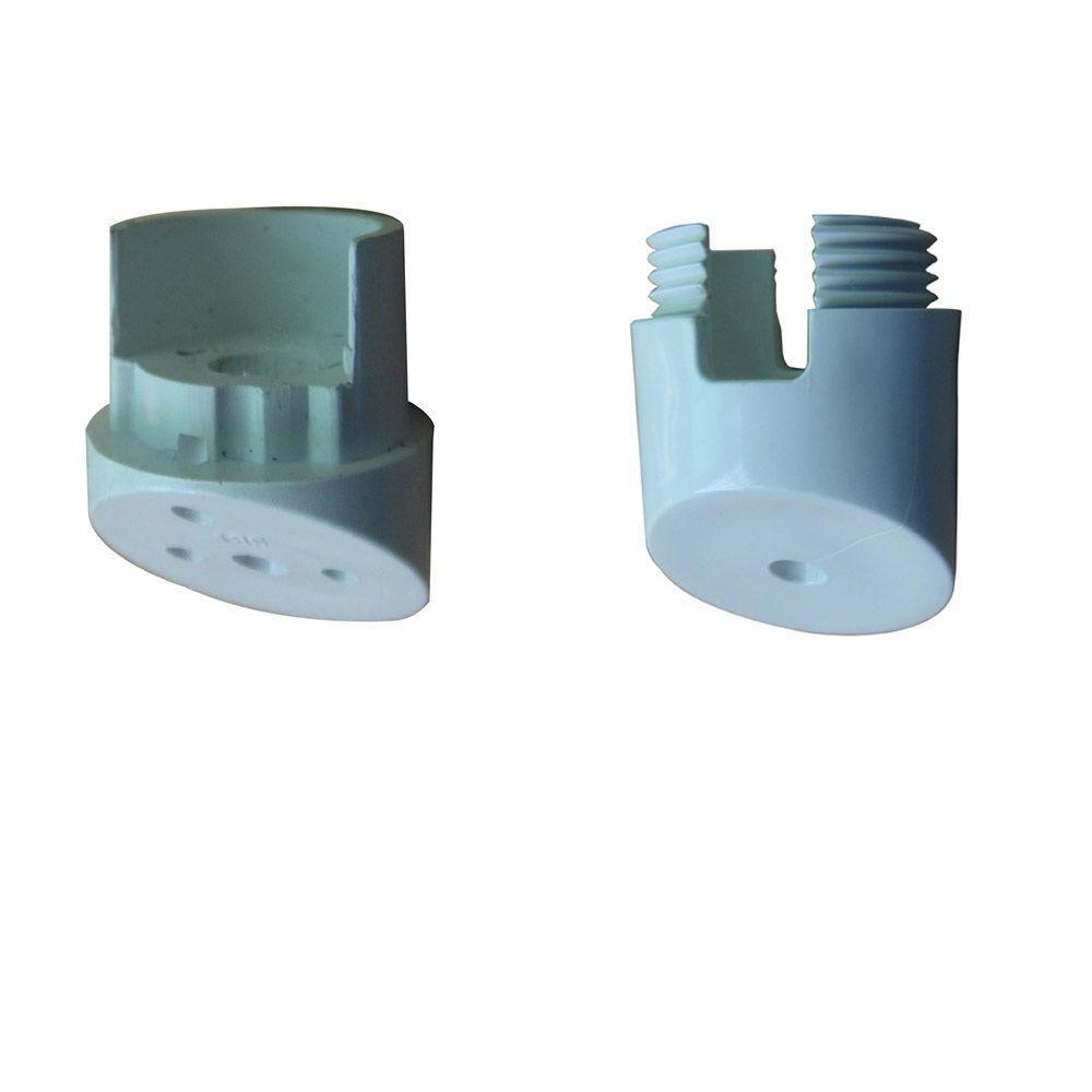 White Round Stair Adaptor Hardware (10-Pack)
