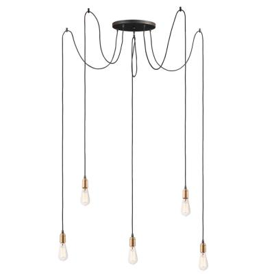 Maxim Lighting Early Electric 5 Light Black Antique Brass Pendant 12125bkab The Home Depot