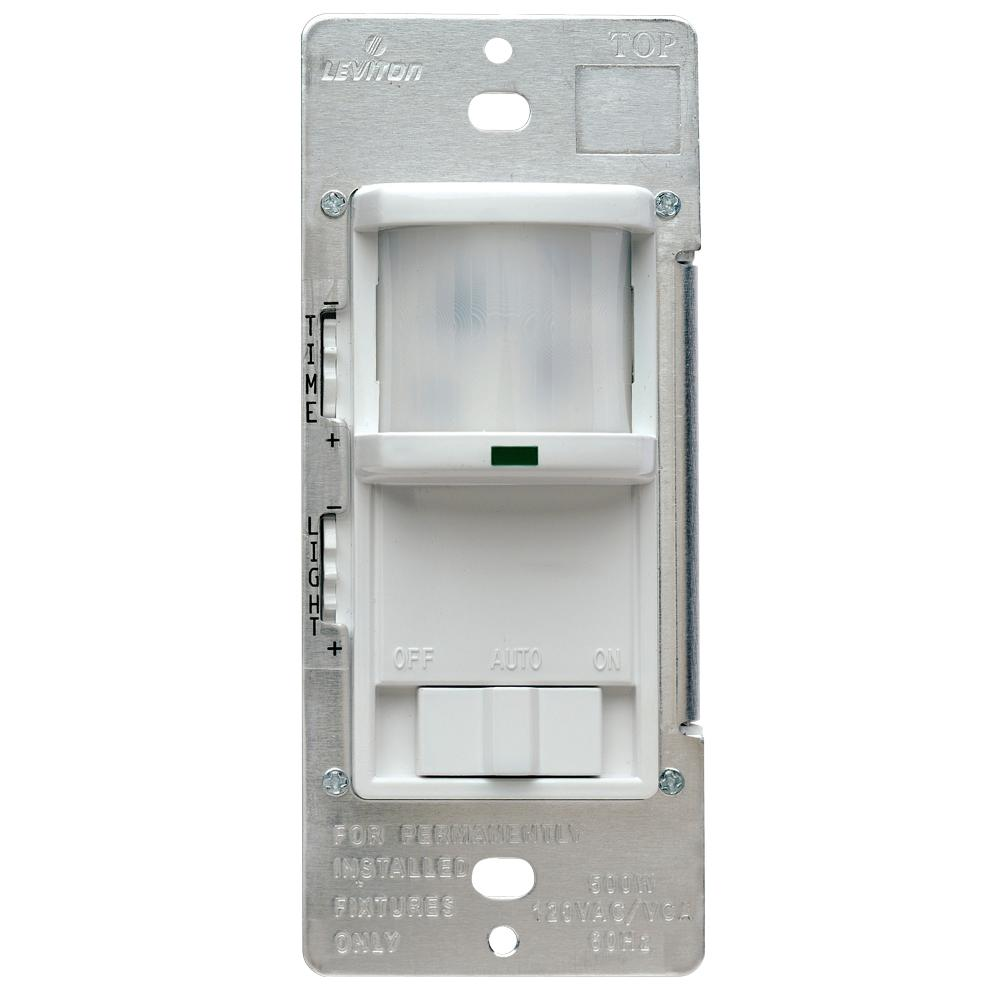 Leviton Pr180 Wiring Diagram Engine Control 3 Way Wire 500 Watt 180 White Occupancy Sensor R52 1lw The Rh Homedepot Com Gfci