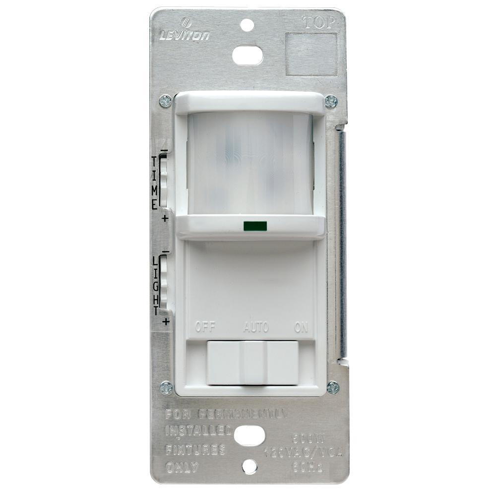 leviton 500 watt 180° white occupancy sensor r52 pr180 1lw the