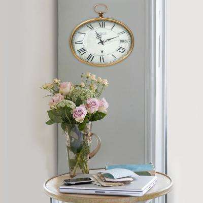 Gold Oval Wall Clock