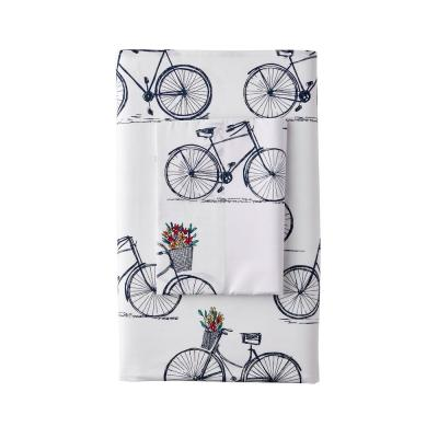Country Ride 200-Thread Count Cotton Percale Flat Sheet