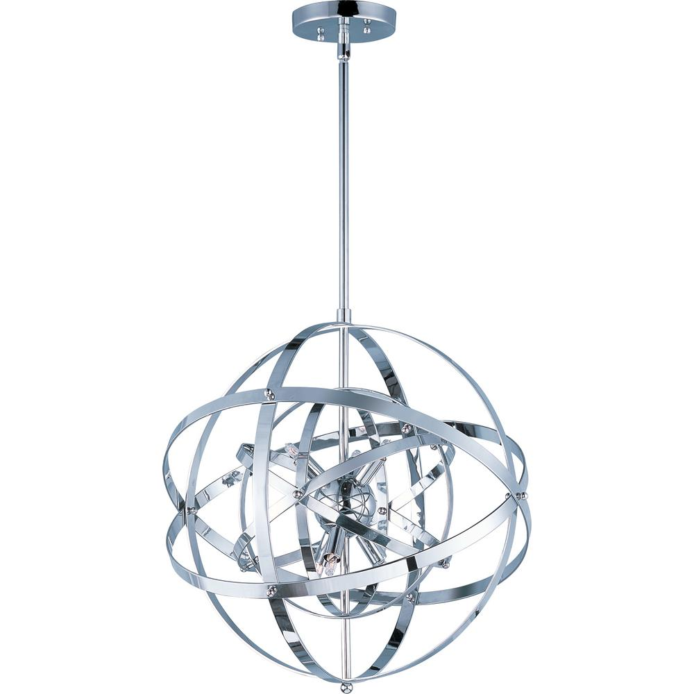 Maxim Lighting Sputnik 6-Light Polished Chrome Pendant Maxim Lighting's commitment to both the residential lighting and the home building industries will assure you a product line focused on your lighting needs. With Maxim Lighting accessories you will find quality product that is well designed, well priced and readily available. Maxim has fixtures in a variety of styles and a strong presence in the energy-efficient lighting industry, Maxim Lighting is the clear choice for quality lighting.