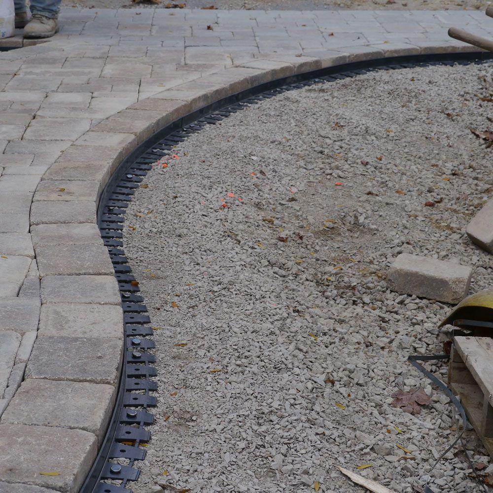 Proflex 6 Ft Paver Edging In Black 1260 Hd The Home Depot