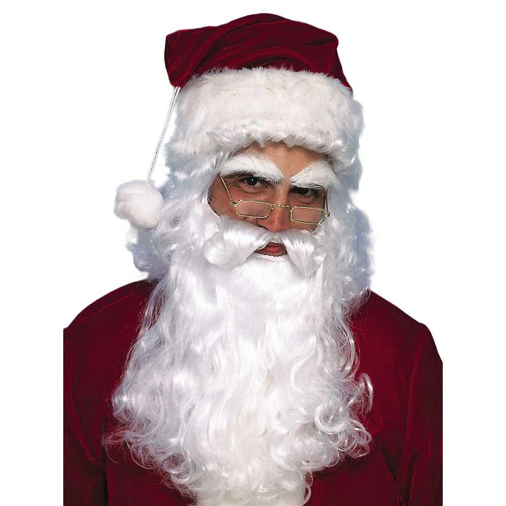 Economy Santa Beard and Wig Set, Multicolor