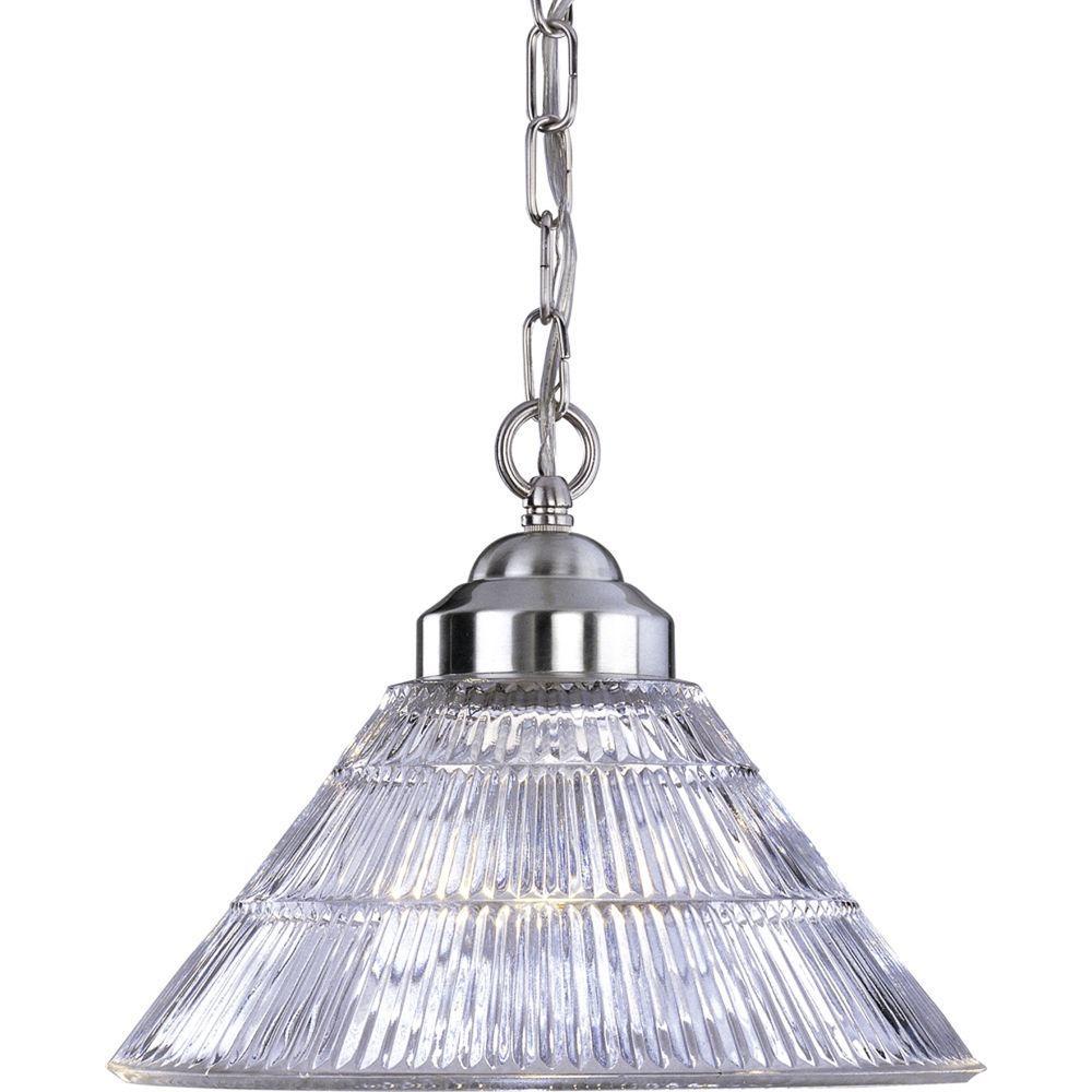 1-Light Brushed Nickel Interior Pendant