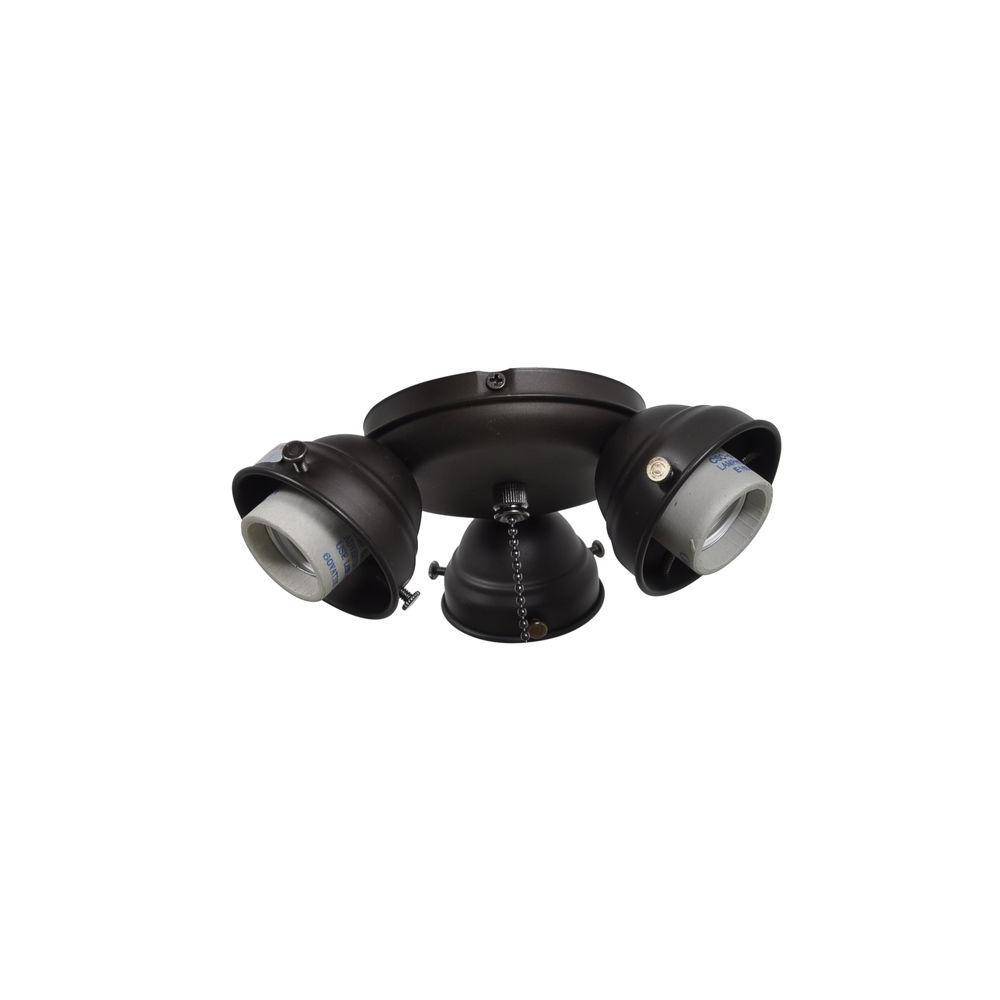 Glendale 52 in. Oil Rubbed Bronze Ceiling Fan Replacement Light Kit